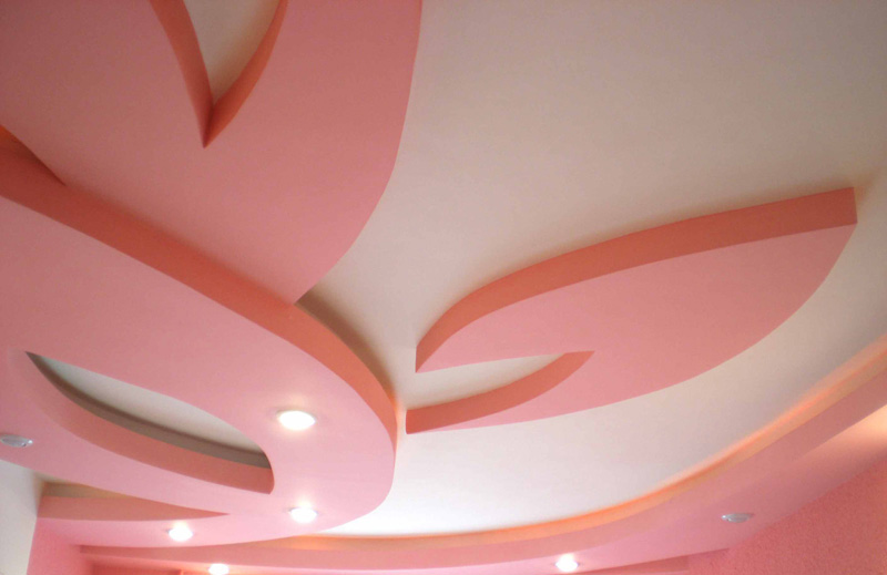 Потолок из гипсокартона в детскую комнату фото эскизы