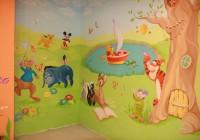 Роспись стен в детской комнате фото девчонкам
