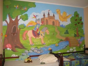 Роспись стен в детской комнате фото мальчикам и девочкам