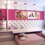 Шикарная детская комната с подиумом и выдвижными кроватями