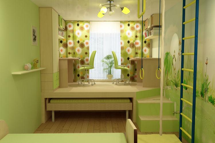 Детская комната своими руками для двоих фото