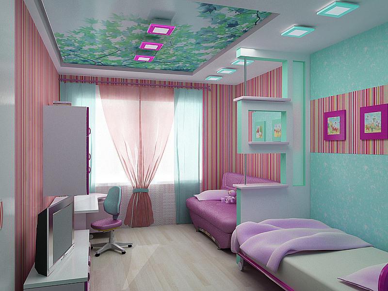Планировка детской комнаты для двоих детей фото презентационных идей