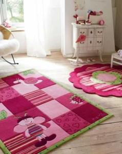 Яркие детские ковры для девочек фото