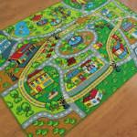 Яркий ковер детский с дорогами