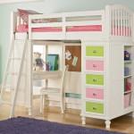 Белая детская кровать с ящиками для хранения