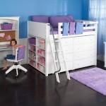 Детская кровать с ящиками для хранения открытого типа