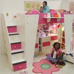 Детская кровать с ящиками для хранения в лестнице