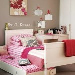 Кровати для девочек фото с текстилем в горошек