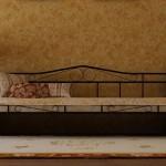 Металлическая односпальная кровать 90 х 200 см с ковкой