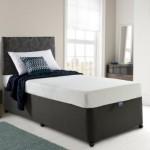 Мягкая односпальная кровать 90 х 200 см без ножек