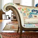 Небольшой детский диван кровать с бортиками