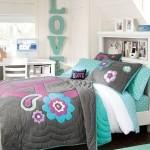 Нежные голубые оттенки кровати для подростков девочек фото