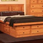 Просторные, высокие односпальные кровати с ящиками для белья