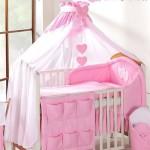 Розовый балдахин на детскую кроватку своими руками пошагово