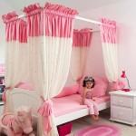Шикарные кровати для девочек от 3 лет фото с тканями