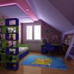 Уютный ремонт детской комнаты фото для мальчика на мансарде
