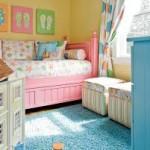 Высокий розовый детский диван кровать с бортиками