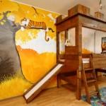 Яркий ремонт детской комнаты фото для разнополых детей
