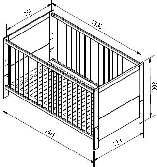 Кроватки для новорожденных своими руками чертежи