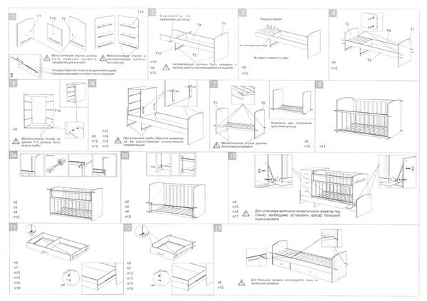 Детская кроватка трансформер своими руками чертежи