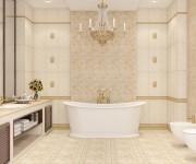 Использование керамогранита для пола в ванной