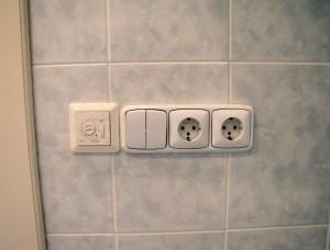 Проводка в ванной комнате и ее особенности