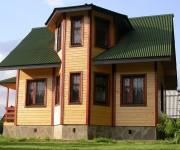 Дом из бруса с эркером: особенности постройки