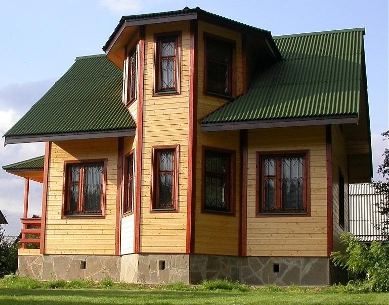 Дома из бруса с эркером: особенности постройки