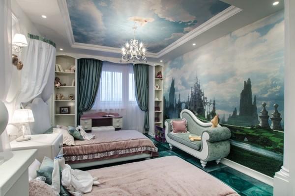 Детская комната в стиле Алиса с Зазеркалья