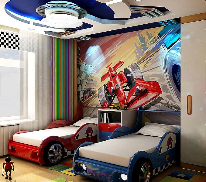 Современные детские комнаты для двоих мальчиков