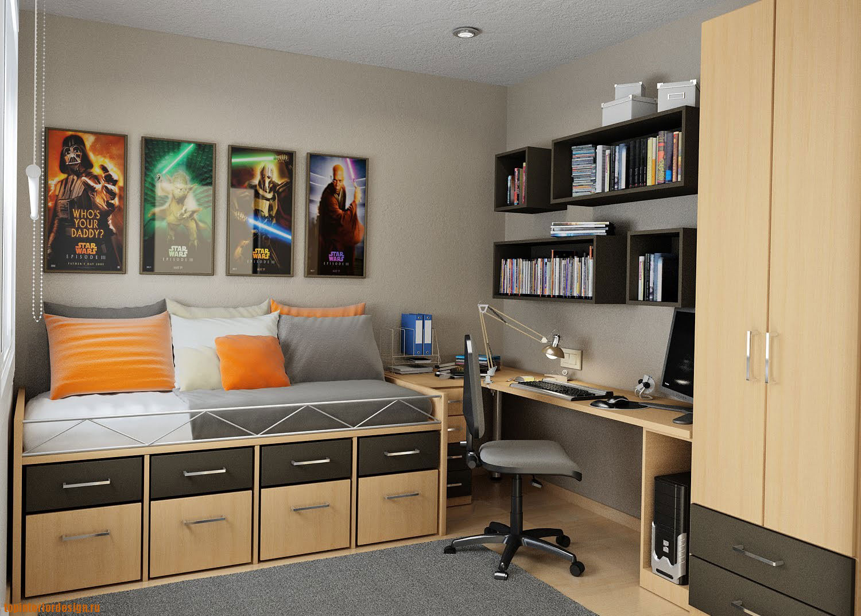 Дизайна комнаты юноши 140
