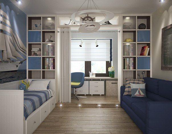 Интерьер комнаты для двух мальчиков подростков