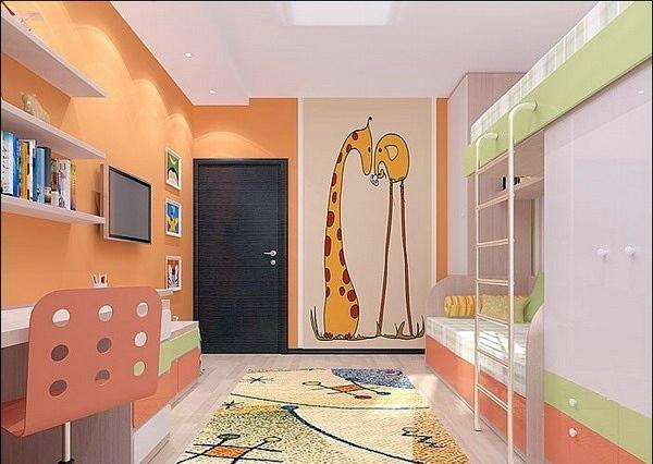 Проекты детских комнат: фото советы по организации пространс.