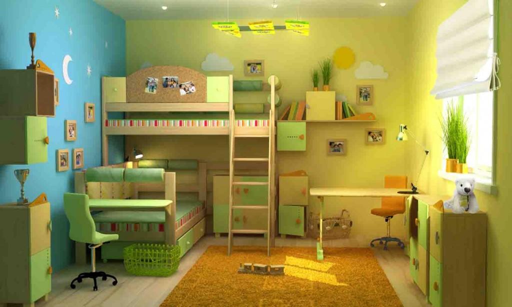 Интерьер детской комнаты для мальчиков разного возраста