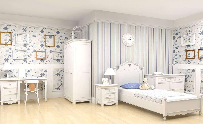 Комната в белом цвете для девушки