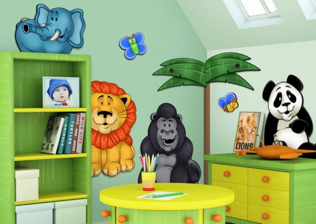 Наклейки в детскую комнату