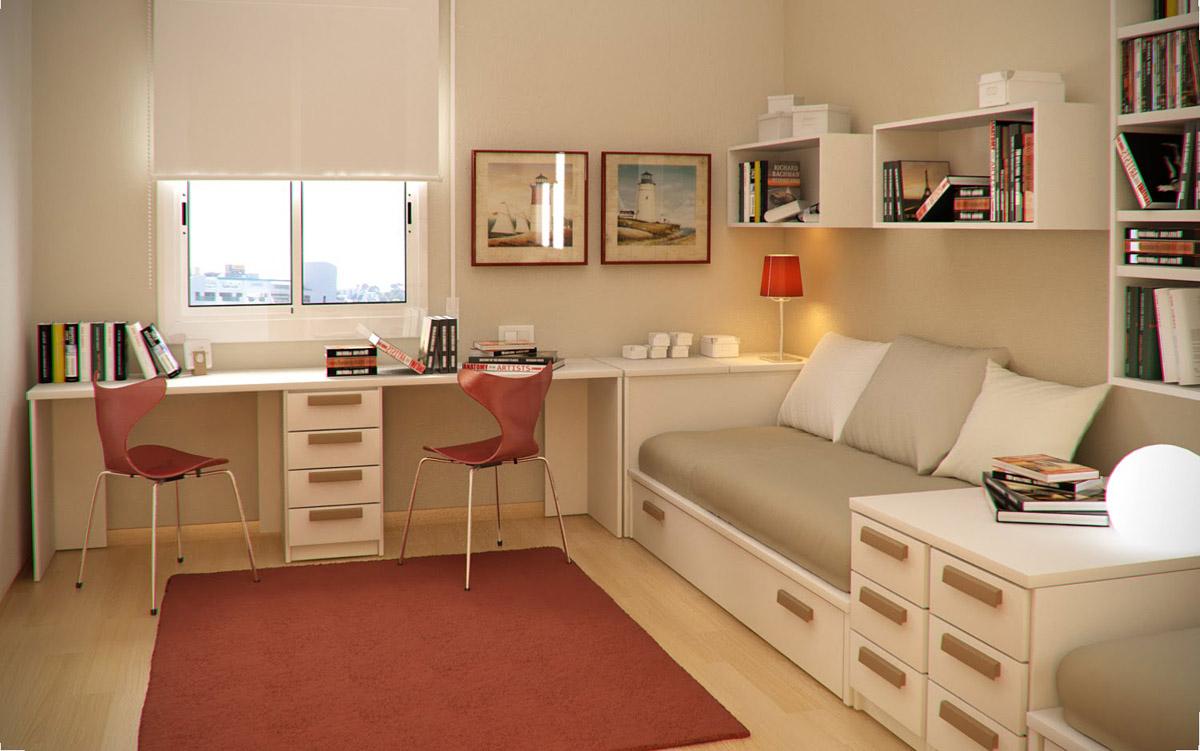 Фото дизайна спальни для двух подростков