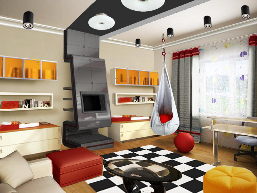 проекты комнат для подростков планировка и детали
