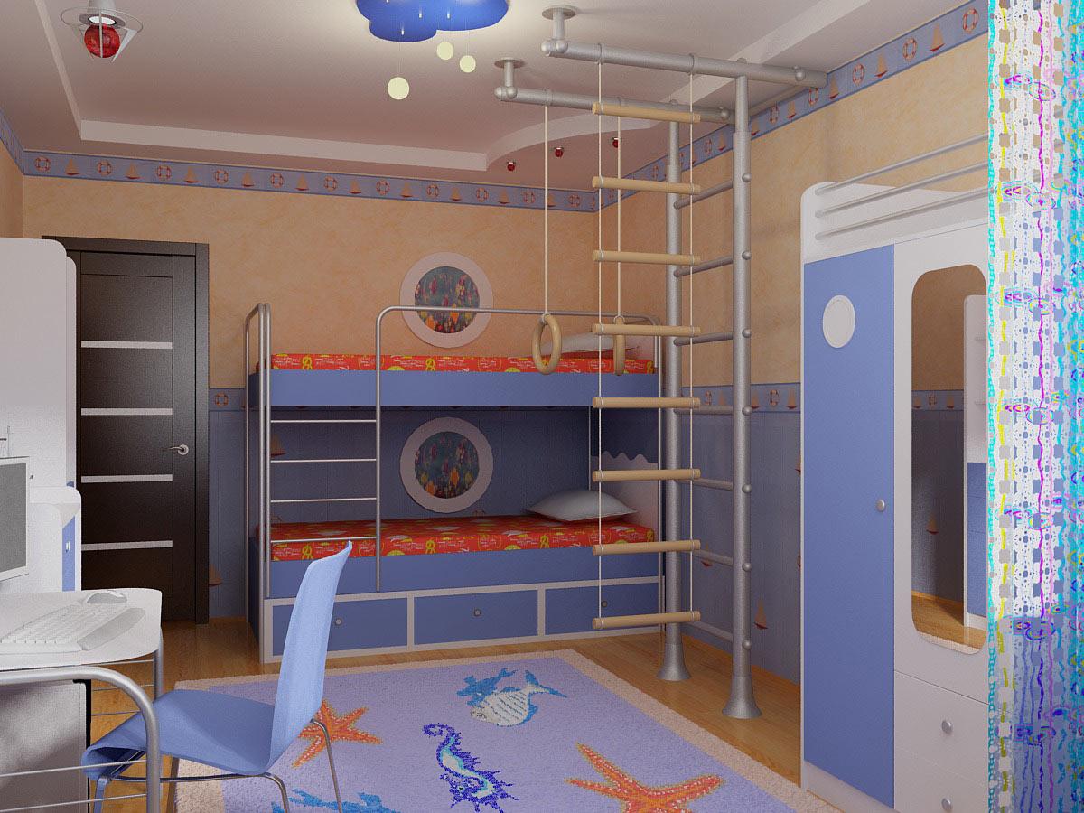 Дизайн детской для двух мальчиков  идеи оформления на