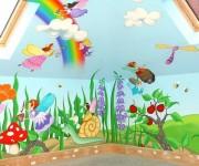Оригинальные рисунки для детской комнаты своими руками