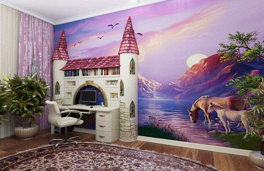 Детская комната для двух девочек дизайн интерьер