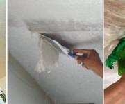 Очистка потолка от побелки и краски