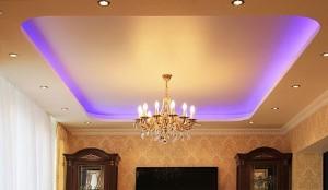 Натяжной потолок с подсветкой 1