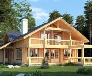 Дом из клееного бруса — идеальный вариант для комфортного жилья