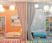 Шторы и тюль для детской комнаты