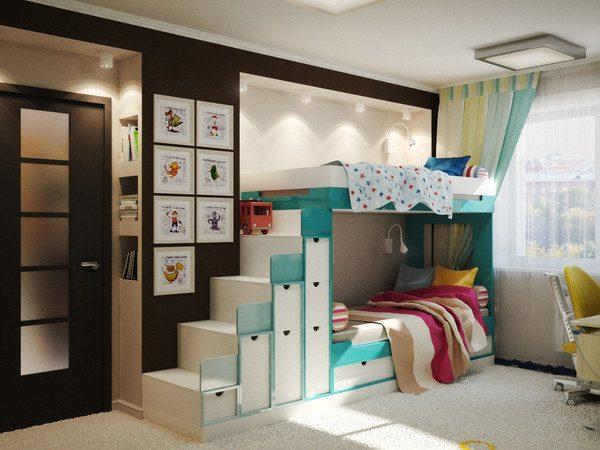Дизайн детской комнаты для двух детей
