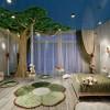 Деревья в интерьере детской комнаты как яркое стилистическое решение
