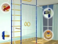 Комплексный спортивный уголок в детской комнате фото