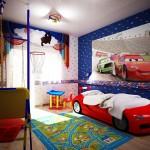 Интерьер детской комнаты для мальчика в стиле «Тачки»