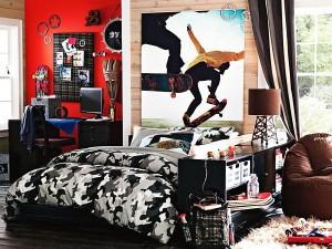 Цветной интерьер комнаты для подростка мальчика